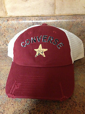 c3c537cf77d CONVERSE ALL STAR Red and Royal Blue Snap Back Baseball Hat Cap ...