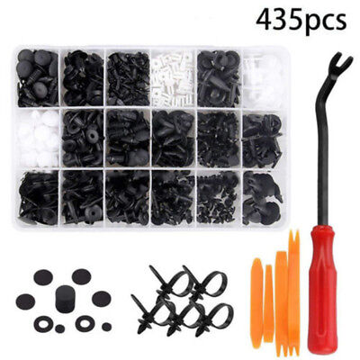 Car Body Trim Clips Retainer Bumper Rivets Screw Panel Push Fastener Kit 435Pcs
