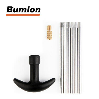 8pcs Gun Cleaning Rods Set Alumium Thread 8-32 For Hunting Airsoft Accessory