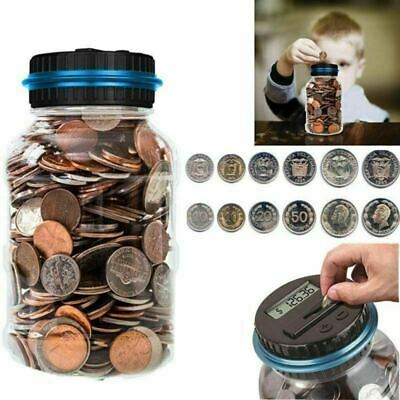 Simple Digital Coins Bank Clear Money Box Piggy Bank All Adults Kids Love Gifts