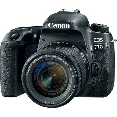 Canon EOS 77D with EF-S 18-55mm f4-5.6 STM Black (Multi) Stock from EU nuovo