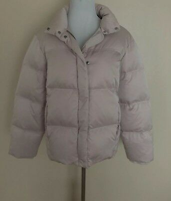 d51e946d9 TOPSHOP WOMEN'S PINK Quilted Puffer Jacket Full Zip Front Snaps Sz 6 Side  Pocket