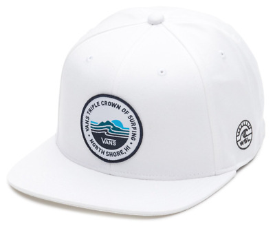 Vans Off The Wall Men s VTCS Lockup Triple Crown of Surfing Hat Cap (White) f2d4c59f8b00