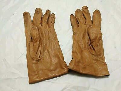 Vintage ~Dents ~Ladies Gloves ~Soft Brown Leather ~Size 7 in VGC