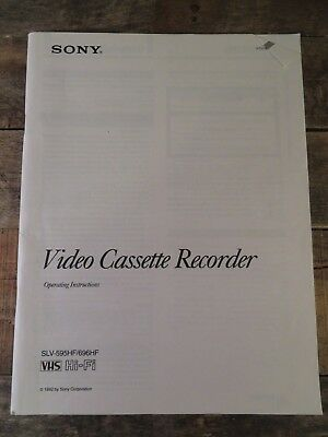 Sony VCR SLV-595HF / 696HF Instruction Manual