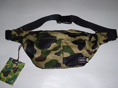630155b8eaf0 19453 BAPE PORTER city camo waist bag black -  252.00