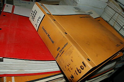 CUSTODIA 688 Crawler Excavator Trackhoe Repair Shop Service Manual book overhaul