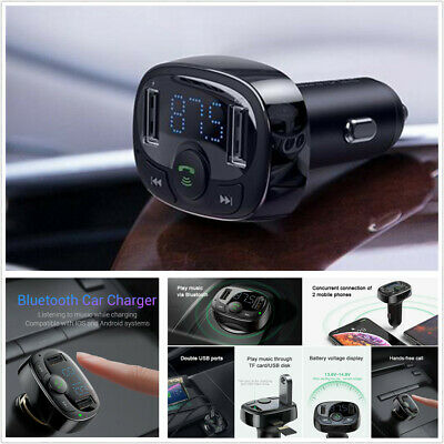Wireless Bluetooth Car Kit Handsfree FM Transmitter LCD MP3 Player 2 USB Charger