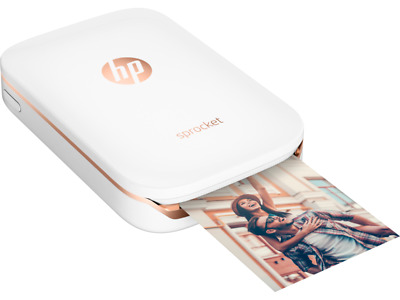 HP Sprocket 100 Photo Instantly PORTABLE BLUETOOTH Printer Z3Z91A WHITE COLOR