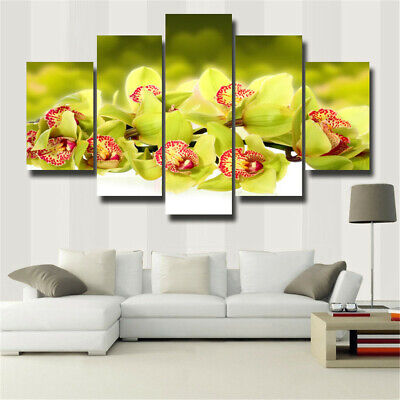 5Pcs Yellow flowers Canvas Print Painting Wall Art Home Decor