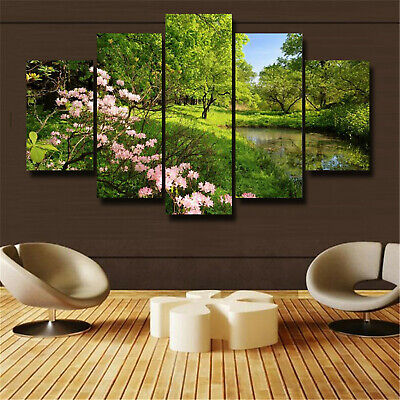 5Pcs Beautiful garden Canvas Print Painting Wall Art Home Decor