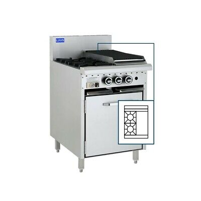 LUUS Essentials 2 Burner 300mm Griddle Oven Pilot Flame Failure CRO-2B3P-P LPG