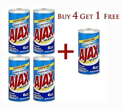 Ajax Powder Cleanser With Bleach 14 Oz Stronger Than Dirt 396g- Buy 4 Get 1 Free