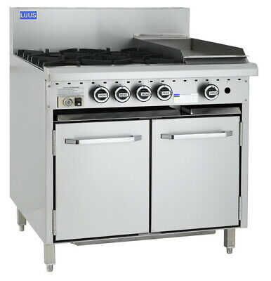 LUUS Essentials 4 Burner 300mm Griddle & Oven Pilots Flame Failure CRO-4B3P-P NG