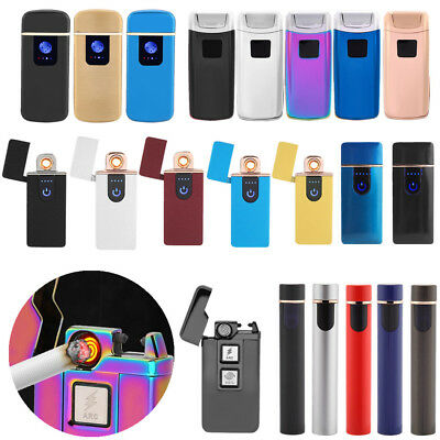 HOT USB Electric Flameless Lighter Torch Rechargeable Windproof Christmas Gift