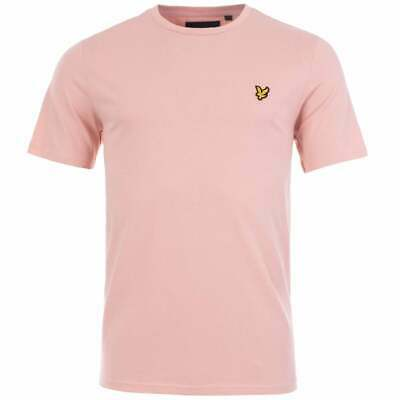 Lyle & Scott Crew Neck Short Sleeved T-Shirt Tee In Coral  / Bnwt, Rrp £25