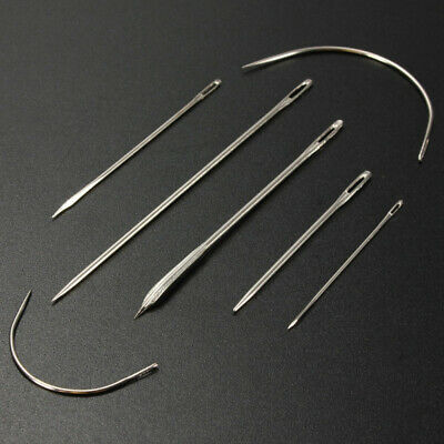 7x Repair Needles For Carpet Leather Canvas Curved Upholstery Sewing Tool kit ne