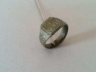 ANTIQUE & AUTHENTIC Primitive artifact Ottoman bronze RING from 1891