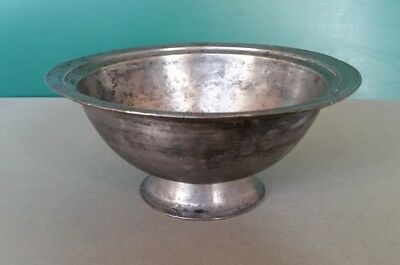 ANTIQUE Armenian OTTOMAN ERA COPPER BOWL WITH HAND ENGRAVED writting and TUGRA