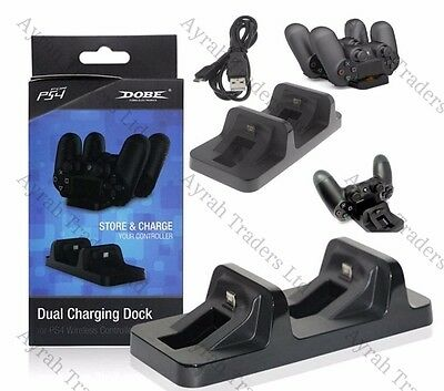 Double USB Charge Station D'Accueil Support pour Playstation 4 Ps4 Manette