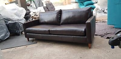 John Lewis Bailey Grand Sofa Leather Band C 1249 In