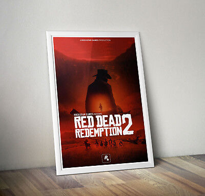 RED DEAD II 2 Gaming Video Game Poster Print A3+ PLUS A3 A4 Glossy REDEMPTION