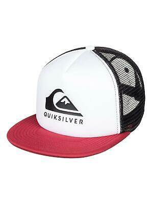 cd3d209b427 QUIKSILVER MENS BASEBALL Cap.new Foamslay Flat Peak Trucker Snapback ...