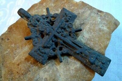 "ANTIQUE 18-19th CENTURY LARGE ORTHODOX ""OLD BELIEVERS"" ORNATE ""SUN"" CROSS"