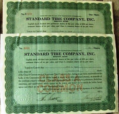 6 different stock certificates issued to one family 1924-1930 uncancelled