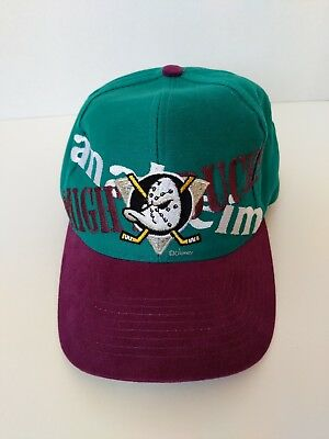 NHL Anaheim Mighty Ducks Disney Logo 7 Vintage Snapback Official NHL Hat Cap  EUC b5bc49022078