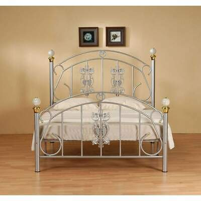Juliana 4ft6 Double Metal Bed Frame in Silver Tone