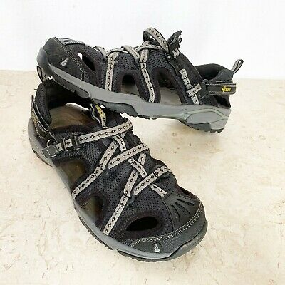 3709a46f26df Ahnu by Teva Shoes 8.5 Black Gray Waterproof Hiking Fishing Beach Sandals