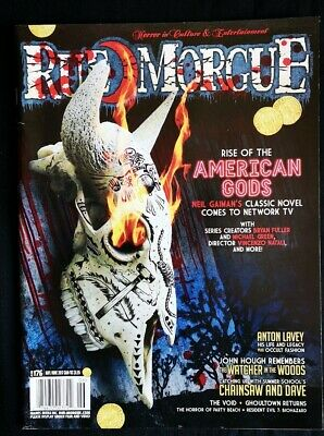 Rue Morgue #176 May/jun 2017 American Gods Watcher In The Woods Chainsaw Dave