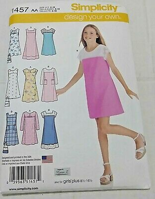 LADIES CUTE SUMMER JUMPER or DRESS /& CROP TOP PATTERN 6-22 FF SIMPLICITY #9614