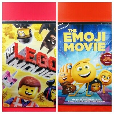 The Lego Movie The Emoji Movie Dvd Widescreen Kidfamily Dvd Lot
