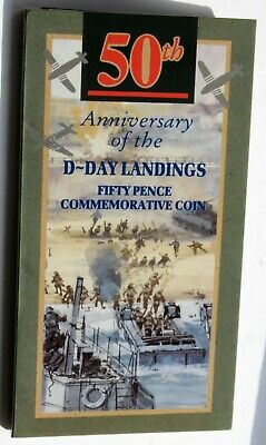 GREAT BRITAIN - 1994 50th ANNIVERSARY OF D DAY - 50p COIN PRESENTATION PACK