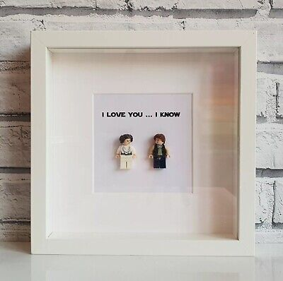 LEGO Star Wars I Love You, I Know Frame (Han Solo • Princess Leia • Valentines)