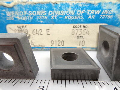 CNMG 642 CM14 Tracker *COATED* Solid Carbide Inserts //10Pk NEW