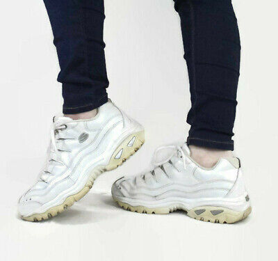 90335772a018 VINTAGE 90s Chunky White Skechers Sport Sneakers 00s Ugly Dad Tennis Shoes  10