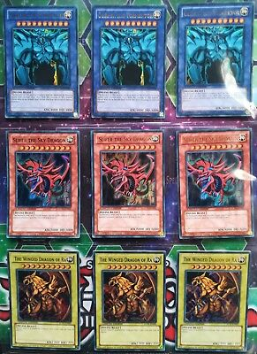 Lot 3 Playset Dieux Egyptiens - Obelisk, Ra, Slifer - Edition Limitée (LC01)