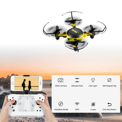 KY901W Foldable 2.4G 4CH 6-axis Gyro Mini RC Quadcopter with WiFi FPV 30W Camera