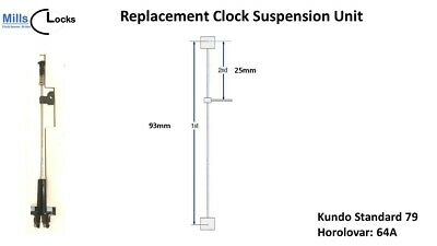 Kundo Standard 79 (Unit 64A) Horolovar Anniversary Clock 400 Day Suspension Unit