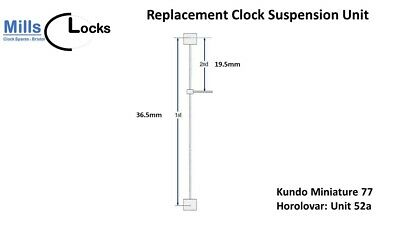 Kundo Miniature 7 (Unit 52a) Horolovar Anniversary Clock 400 Day Suspension Unit