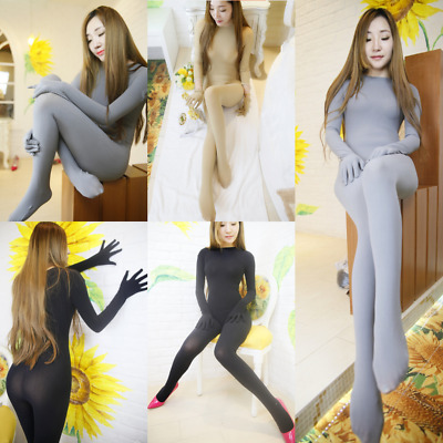 Seamless Velvet Full Bodystocking sexy donna catsuit lingerie intimo Tuta HOT
