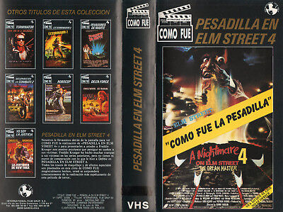 """como Fue Pesadilla En Elm Street 4"" Spanish Vhs / Making Off Elm St. Nightmare"