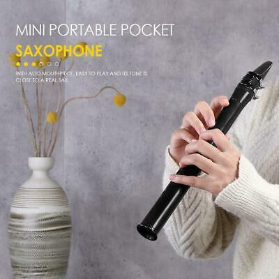Portable Pocket Sax Saxophone Woodwind Instrument with Bag (Silver Metal)