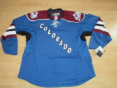 Authentic Colorado Avalanche Team Issued Pro Stock Hockey Jersey size Men s  60 e2770748dc6
