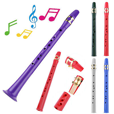Mini Portable Pocket Bb Saxophone ABS Sax Woodwind Instrument with Carrying