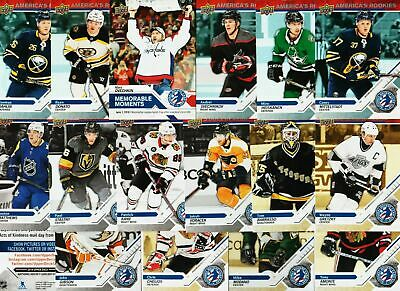 2018-19 2019 Upper Deck National Hockey Card Day USA 17 Card Complete Set