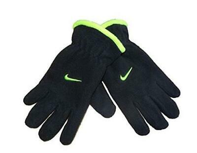 Nike Youth Boy's Microfleece Med. Gloves in Black & Neon Yellow